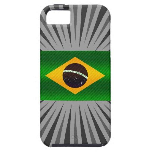 Modern Stripped Brazilian flag iPhone 5 Case