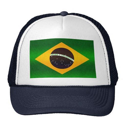 Modern Stripped Brazilian flag Trucker Hat