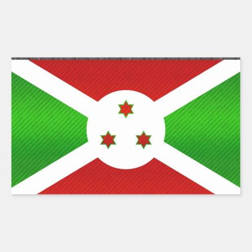 Modern Stripped Burundian flag Sticker