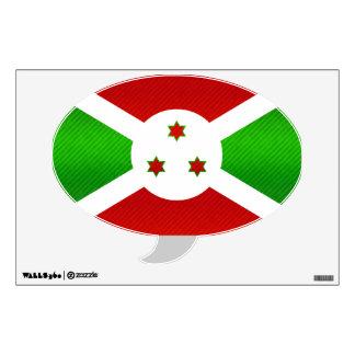 Modern Stripped Burundian flag Wall Decal