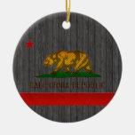Modern Stripped Californian flag Christmas Ornaments