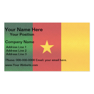 Modern Stripped Cameroonian flag Double-Sided Standard Business Cards (Pack Of 100)