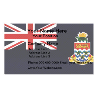 Modern Stripped Caymanian flag Business Card