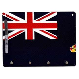 Modern Stripped Caymanian flag Dry Erase Whiteboard