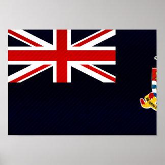 Modern Stripped Caymanian flag Print