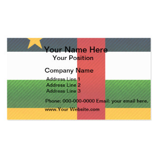 Modern Stripped Central African flag Business Card
