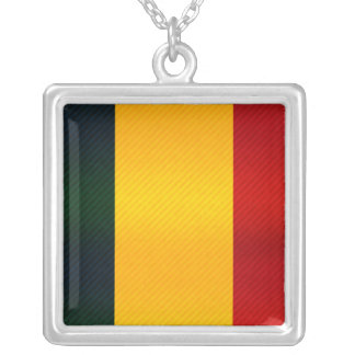 Modern Stripped Chadian flag Personalized Necklace