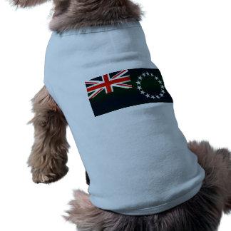 Modern Stripped Cook Island flag Dog Tee