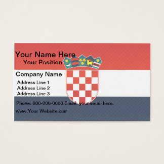 Modern Stripped Croatian flag Business Card