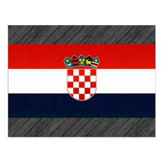 Modern Stripped Croatian flag Postcard