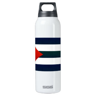 Modern Stripped Cuban flag Thermos Bottle