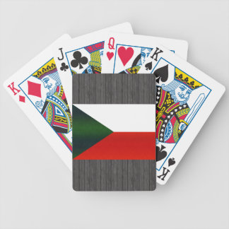 Modern Stripped Czech flag Bicycle Playing Cards
