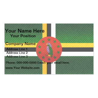 Modern Stripped Dominican flag Business Card
