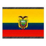 Modern Stripped Ecuadorean flag Post Card
