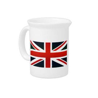 Modern Stripped English flag Drink Pitchers