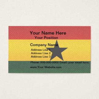 Modern Stripped Ghanaian flag Business Card