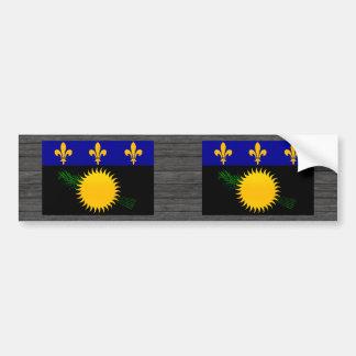 Modern Stripped Guadeloupean flag Car Bumper Sticker