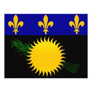 Modern Stripped Guadeloupean flag Flyer Design