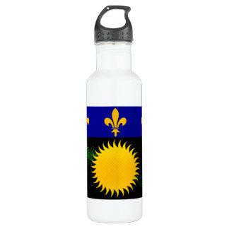 Modern Stripped Guadeloupean flag Water Bottle
