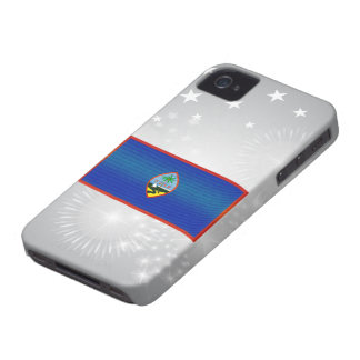 Modern Stripped Guamanian flag Case-Mate iPhone 4 Case