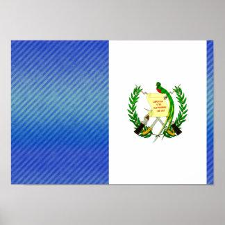Modern Stripped Guatemalan flag Posters