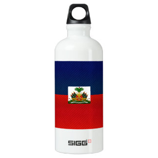 Modern Stripped Haitian flag Aluminum Water Bottle