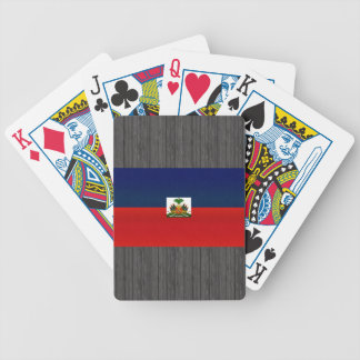 Modern Stripped Haitian flag Bicycle Playing Cards