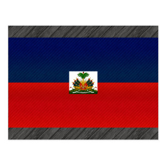 Modern Stripped Haitian flag Postcard