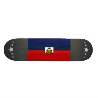 Modern Stripped Haitian flag Skate Board Deck
