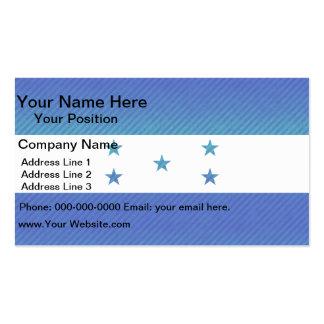 Modern Stripped Honduran flag Business Card Template