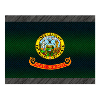 Modern Stripped Idahoan flag Postcard