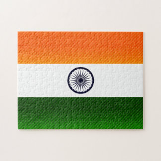 Modern Stripped Indian flag Jigsaw Puzzles