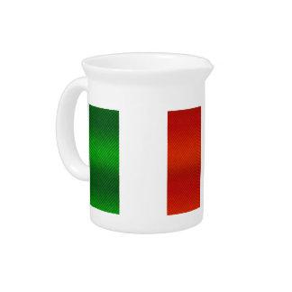 Modern Stripped Italian flag Beverage Pitcher