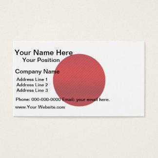 Modern Stripped Japanese flag Business Card