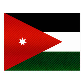 Modern Stripped Jordanian flag Postcard