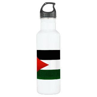 Modern Stripped Jordanian flag Water Bottle