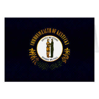 Modern Stripped Kentuckee flag Card