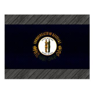 Modern Stripped Kentuckee flag Postcard