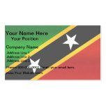 Modern Stripped Kittian flag Double-Sided Standard Business Cards (Pack Of 100)