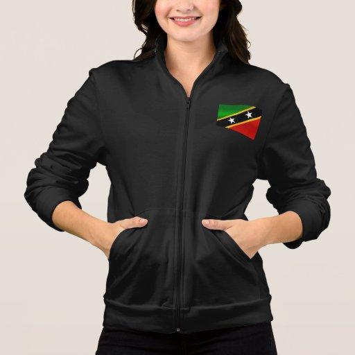 Modern Stripped Kittian flag Printed Jackets