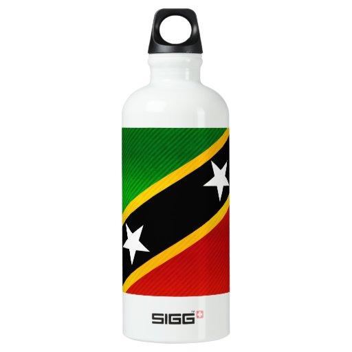 Modern Stripped Kittian flag SIGG Traveler 0.6L Water Bottle