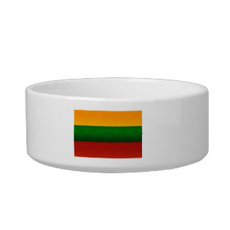 Modern Stripped Lithuanian flag Cat Food Bowls