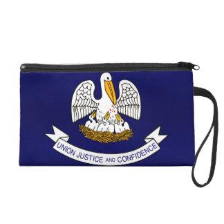 Modern Stripped Louisianan flag Wristlet Purses