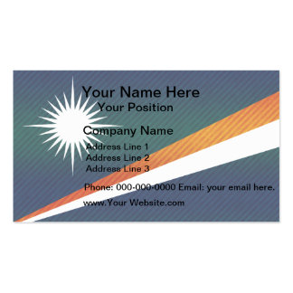 Modern Stripped Marshallese flag Double-Sided Standard Business Cards (Pack Of 100)