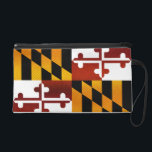"Modern Stripped Marylander flag Wristlet Purse<br><div class=""desc"">A modern,  yet simple Marylander flag with a touch of stripes. It has a slight vintage and Marylander color effects. Great for everyday wear for any modern Marylander.</div>"