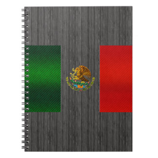 Modern Stripped Mexican flag Notebook
