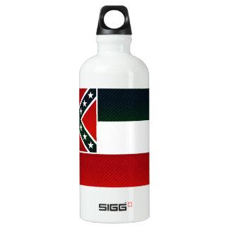 Modern Stripped Mississippian flag Aluminum Water Bottle