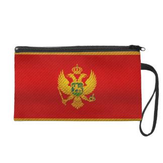 Modern Stripped Montenegrin flag Wristlet Purses