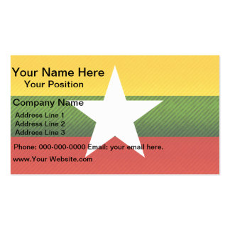 Modern Stripped Myanmarese flag Double-Sided Standard Business Cards (Pack Of 100)