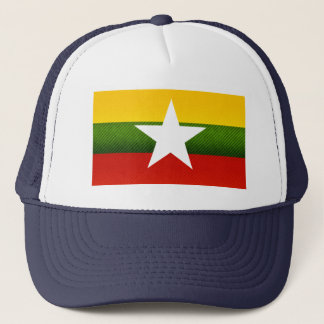 Modern Stripped Myanmarese flag Trucker Hat